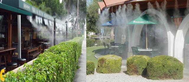 hệ thống phun sương làm mát Các lưu ý khi lắp đặt hệ thống thông hút gió, làm mát cho nhà hàng, quán ăn