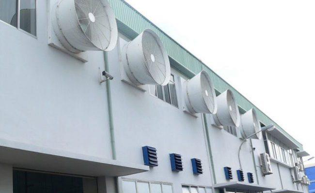 Hệ thống làm mát nhà xưởng sử dụng màng cooling pad