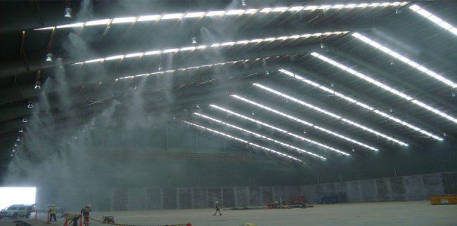 Hệ thống phun sương làm mát nhà xưởng Làm mát nhà xưởng bằng hệ thống thông gió hơi nước